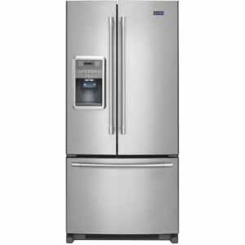 Maytag 22 cu.ft. French Door Refrigerator With Beverage Chiller Compartment - Stainless Steel