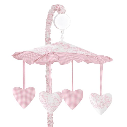 Sweet Jojo Designs Pink Toile Collection Musical Mobile