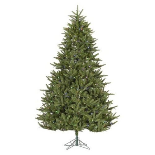 7.5 ft. Berkshire Fir LED Pre-lit Artificial Christmas Tree - Multi-color Lights