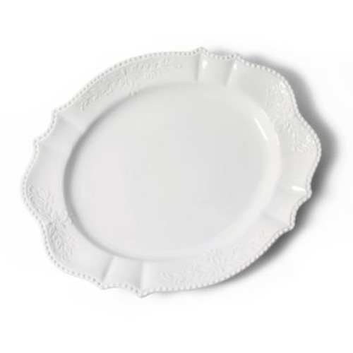 Tabletops Unlimited 21-Inch Scalloped Oval Platter