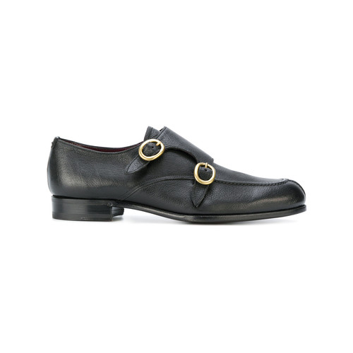 oval buckle monk shoes