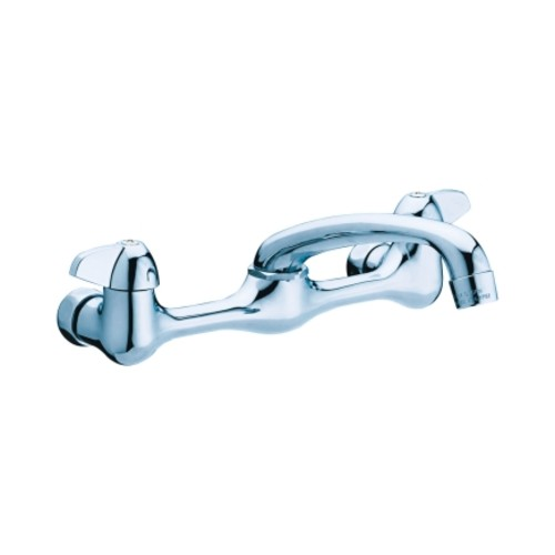 Homewerks Wall Mount Two Handle Chrome Wall Mount Kitchen Faucet(3190-43-CH-BC-Z)