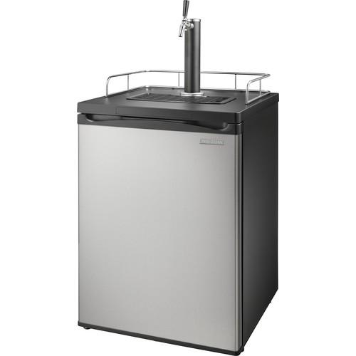 Insignia - 5.6 Cu. Ft. 1-Tap Beverage Cooler Kegerator - Stainless steel