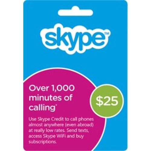 Skype - $25 Prepaid Card