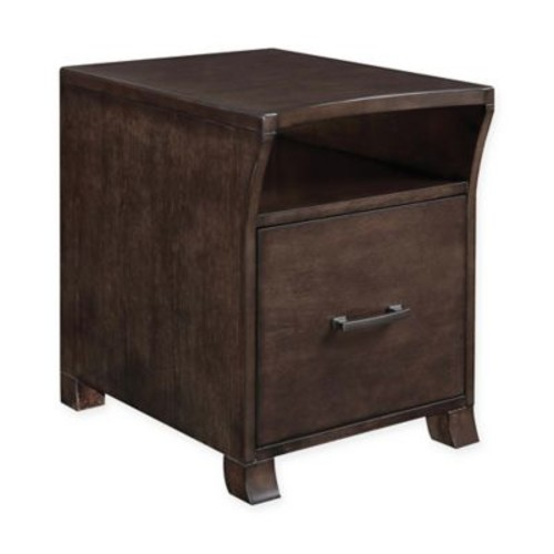 Scott Living Contemporary File Cabinet in Smokey Black