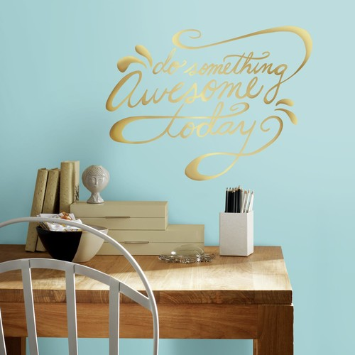 RoomMates Do Something Awesome Quote Peel and Stick Wall Decals