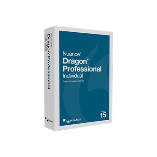 Nuance Communications Dragon Professional Individual - (v. 15) - box pack (upgrade) - 1 user - upgrade from Dragon NaturallySpeaking Premium 12 or later - DVD - Win - US English (K890A-RC7-15.0)