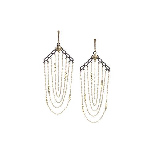 World Chain Earrings with Diamonds