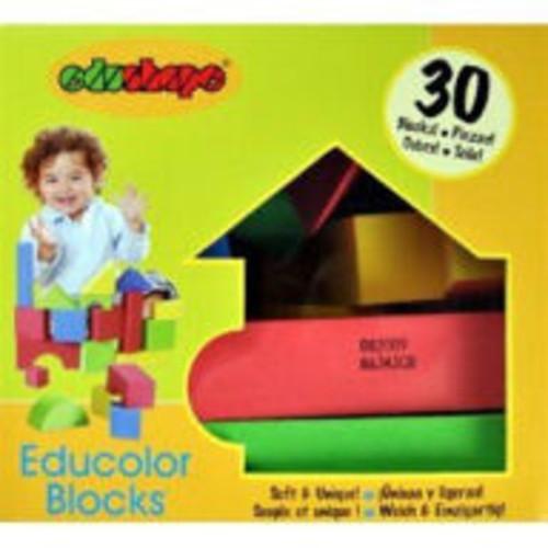 Edushape Educolor Blocks - 30 Piece