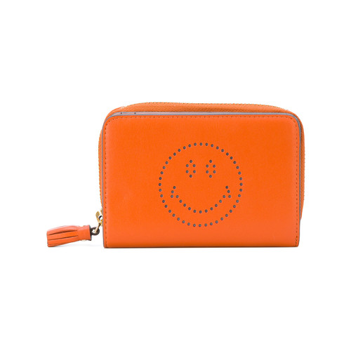 Bespoke compact wallet with smiley