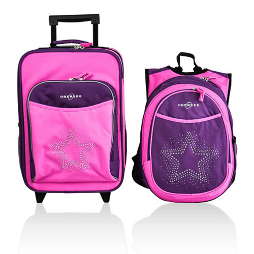 Obersee Kids 2-pc. Bling Star Luggage & Backpack with Cooler Set