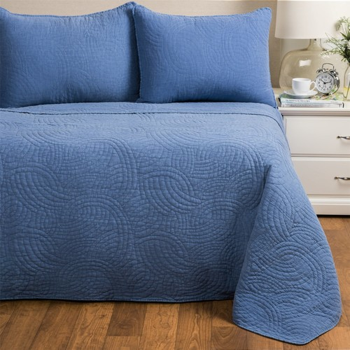 Melange Home Stonewashed Swirl Quilt Set - Full-Queen