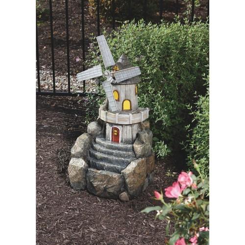 Best Garden Windmill Fountain - WXF04798