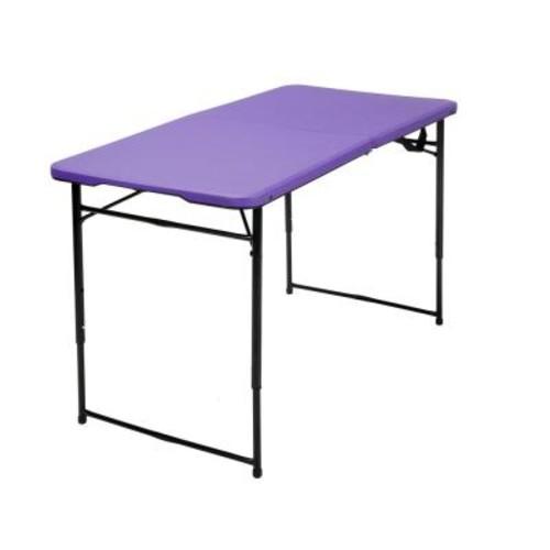 Cosco Purple Adjustable Folding Tailgate Table