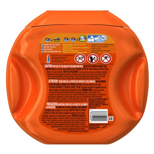 Tide PODS 3 in 1 HE Turbo Laundry Detergent Pacs, Spring Meadow Scent, 57 Count Tub [57 Count]