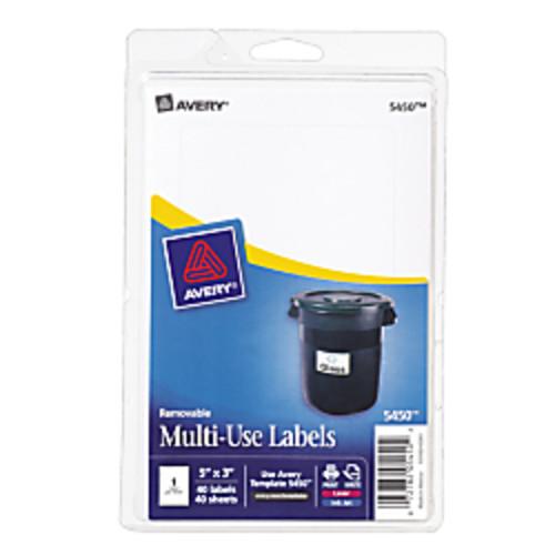 Avery Removable Inkjet/Laser Multipurpose Labels, 5