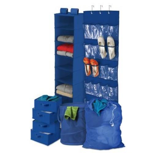 Honey-Can-Do BTS-01587 Back To School Home Organization Kit, Blue [Blue]