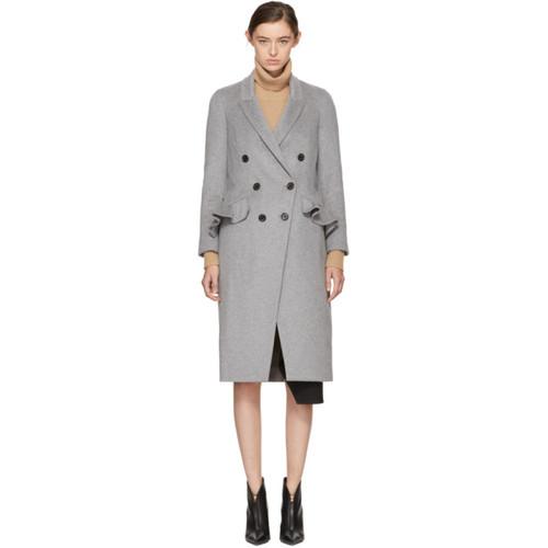 BURBERRY Grey Trentwood Coat