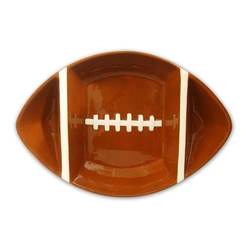 Divided Football Serving Bowl