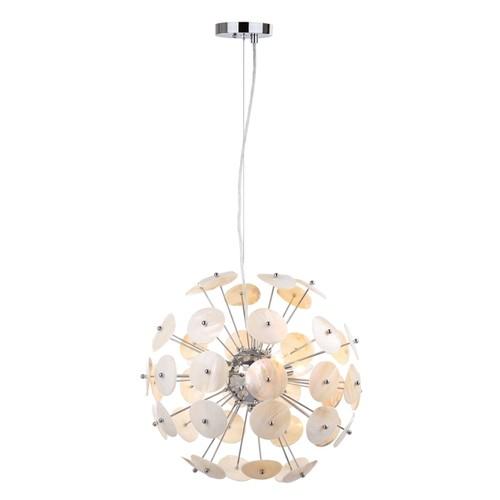 Safavieh Lighting 18-Inch Adjustable 3-Light Disco Natural Cream Pendant Lamp