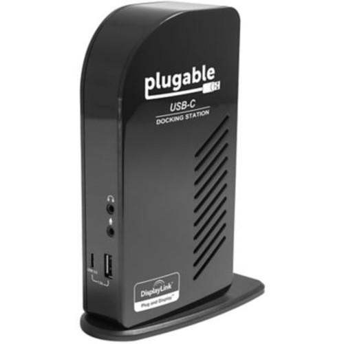 Plugable USB-C Triple Display Docking Station for Apple MacBook Retina 2015/2016, Black (UD-ULTCDL)