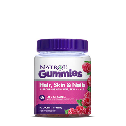Natrol Hair, Skin and Nails Gummies- Raspberry