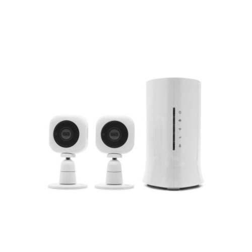 Home8 Video-Verified Mini Cube HD 2-Camera Ultra-Secure Starter Kit - Wireless Video Monitoring Security System with Free Basic Alarm Service