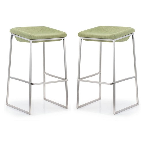 Zuo Modern 2-piece Lids Bar Stool Set