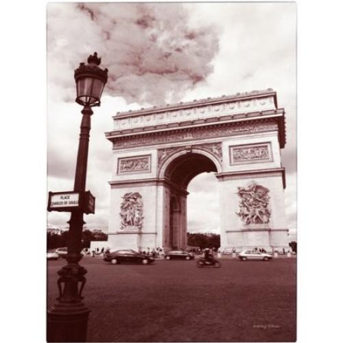 Arc de Triomphe by Kathy Yates, 22x32-Inch Canvas Wall Art [22x32-Inch]