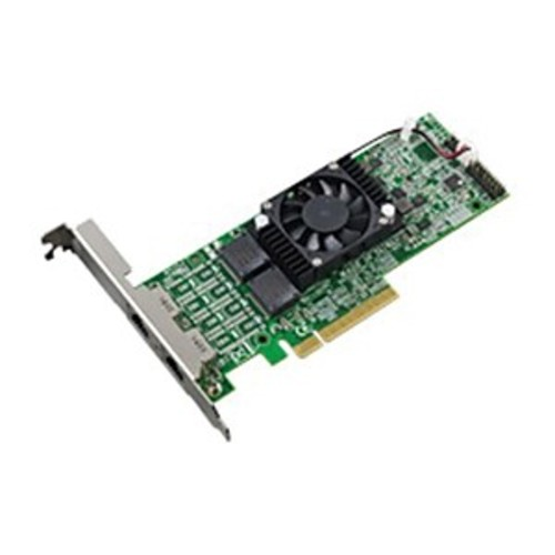 Thecus C10GI540T2 10 Gbps Low-Profile/Half-Length PCIe Network Adapter, Silver