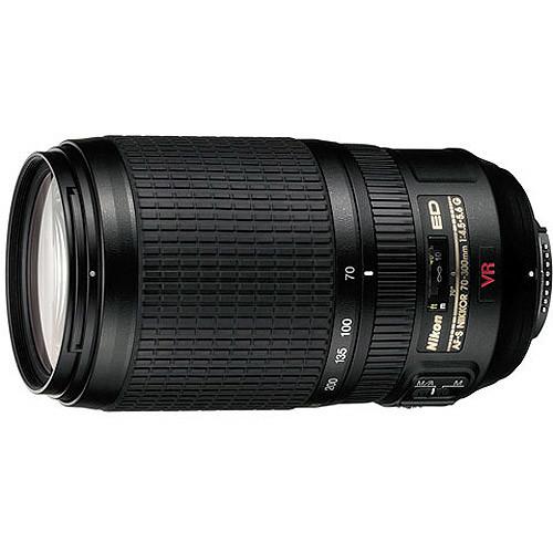 Nikon - AF-S VR Zoom-Nikkor 70-300mm f/4.5-5.6G IF-ED Telephoto Zoom Lens - Black
