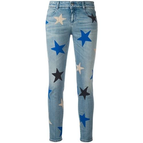 STELLA MCCARTNEY Star Print Cropped Jeans