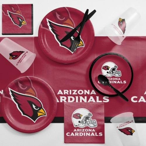 NFL Maroon Arizona Cardinals Game Day Party Supplies Kit