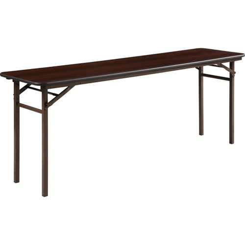 Lorell Laminate Folding Banquet Table, 6'W, Mahogany