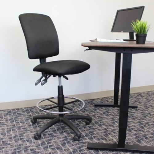Multi-Function Fabric Drafting Stool Black - Boss Office Products