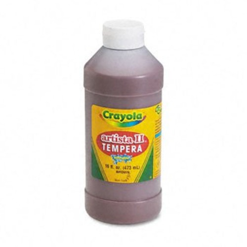Crayola Artista II Tempera Paint, 16 Oz. Bottle, Brown; no. BIN311507