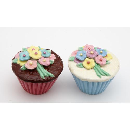 Flower Cupcake Salt and Pepper Set