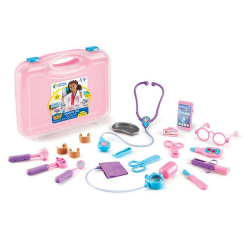 Learning Resources Pretend and Play Doctor Set, Pink