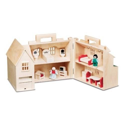 Melissa & Doug Fold & Go Dollhouse: Melissa & Doug: Toys & Games [Large]