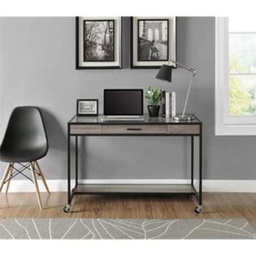 Altra Furniture Altra Mason Ridge Mobile Desk with Metal Frame, Sonoma Oak/Black