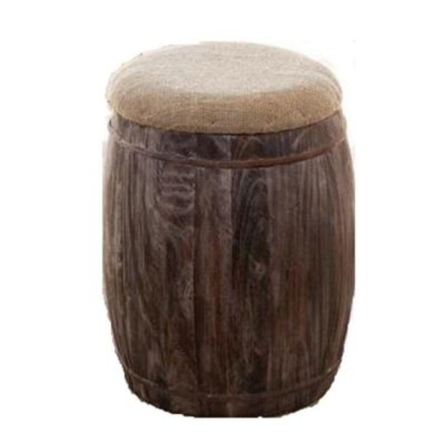 Home Decorators Collection 20 in. Barrel Accent Stool in Reclaimed Pine