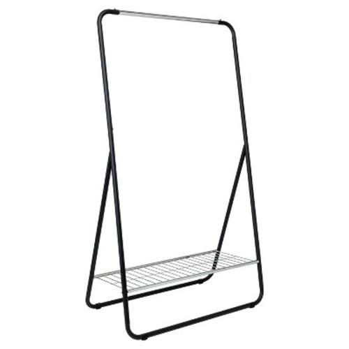 Single Rod Garment Rack with Shelf - Black/Silver - Room Essentials