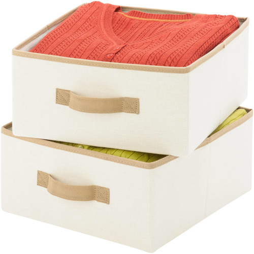 Honey-Can-Do SFT-01255 Accessory Drawers for Hanging Organizer, Natural, 2-Pack