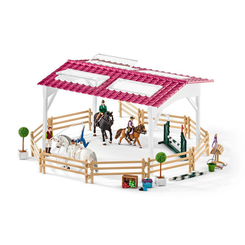 Schleich Horse Club Riding School with Riders and Horses Figurine Set
