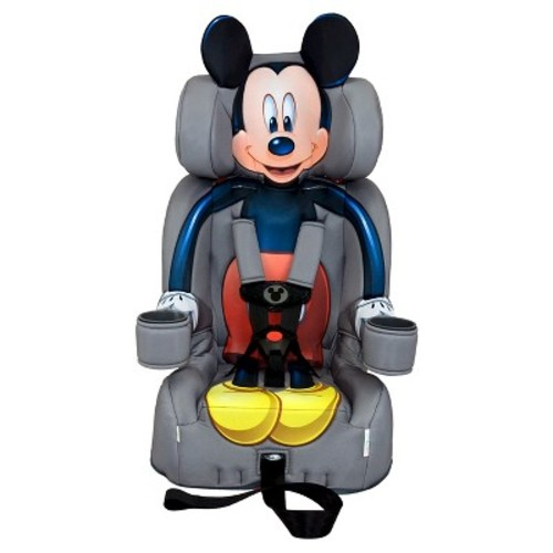 KidsEmbrace Mickey Mouse Booster Car Seat, Disney Combination Seat, 5 Point Harness, Gray, 3001MIC
