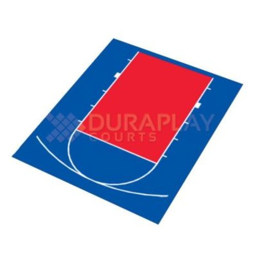 DuraPlay 20 ft. 5 in. x 24 ft. 7 in. Half Court Basketball Kit