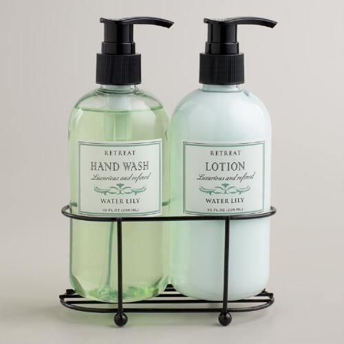 Retreat Water Lily Liquid Soap and Lotion Caddy