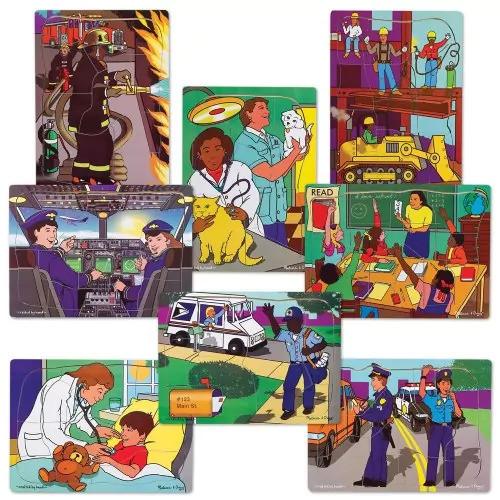 Melissa & Doug Learning & Educational Toys Multi-Ethnic Career Puzzle Set (Set of 8)