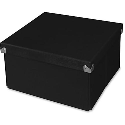 Samsill Pop n' Store Medium Square Box - Black - 10.63