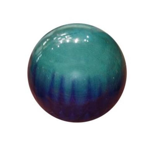 Alpine 10 in. Blue Ceramic Gazing Globe